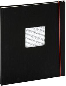Selbstklebealbum Linea 30x30 cm schwarz