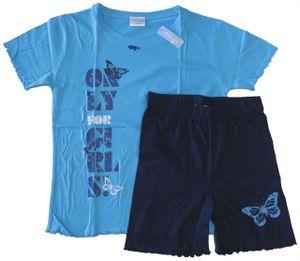 Mädchen Schlafanzug Shorty, Farbe:Hellblau, Gr. :128