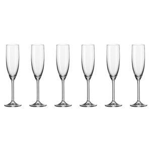 Leonardo Daily Sektglas, 6er Set, Champagnerglas, Proseccoglas, Glas, 210 ml, 35243