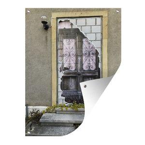 Gartenposter - Verlassenes Haus in der Schweiz - 90x120 cm