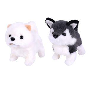 2 pcs Elektronisches Haustier Plüsch Hündchen Welpen Bellender und gehender Hund Stofftier