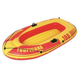Jilong Tropicana Boat 100 - aufblasbares Ruderboot mit 120kg Tragkraft, Schlauchboot Maße 185x98x28 cm