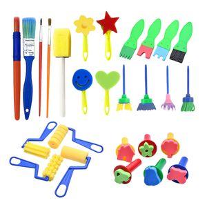 27 Stücke Strukturpinsel Schwamm Pinsel Stempel DIY Zeichnen Kinderpinsel Malpinsel Schwammbürsten DIY Handwerksprojekte zu machen