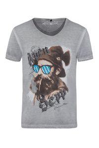 Hangowear Trachtenshirt kurzarm grau Beppi 003794 Größe: L