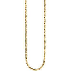 JOBO Königskette 925 Sterling Silber gold vergoldet 3,2 mm 60 cm Kette Halskette