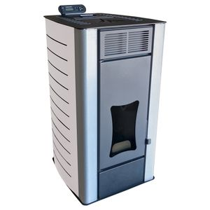 Nemaxx PW18-WT Pelletofen Wasserführend 18 kW Pelletkaminofen Pelletheizung - Stahl Weiß - für bis zu 300m³ - 90,8% Wirkungsgrad - A+