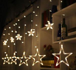 2,5M 138 LED Lichterkette Fenster Lichtervorhang Lichternetz Außen Weihnachtsdeko Lila