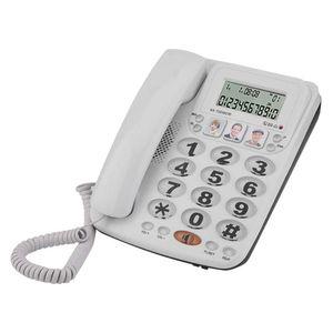 Mllaid Schnurgebundenes Telefon, Schnurgebundenes Festnetztelefon mit Freisprecheinrichtung und Anruferkennung, Schnurgebundenes Telefon mit 2 Leitungen und klarem Klang für Zuhause/Büro/Hotel