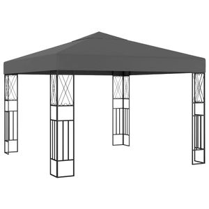 vidaXL Pavillon 3×3 m Anthrazit Stoff