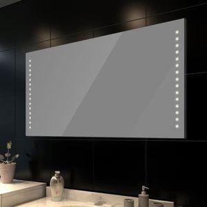 Badspiegel mit LED-Leuchten 100×60 cm