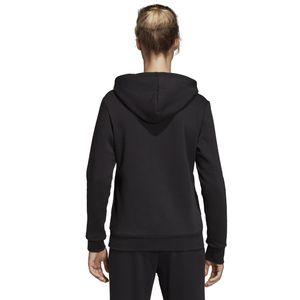adidas Hoodie Kapuzenpullover Damen schwarz Linear Over Head Fleece Hoody Women, Farbe:Schwarz, Damen Größen:L