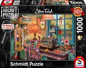 Schmidt Spiele 59654 Steve Read Im Nähzimmer 1000 Teile Secret Puzzle