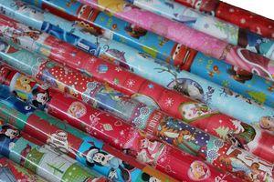 5 Rollen DISNEY Weihnachts Geschenkpapier, 200 x 70 cm, Weihnachten unterschiedliche Muster