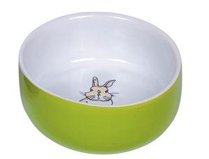 """Nobby Nager Keramik Napf """"Rabbit"""" grün/weiß Ø 11cm x 4,5 cm, 73768"""