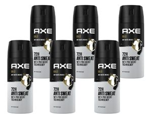 Deo Axe Gold 6x 150ml Deospray Deodorant Bodyspray Antitranspirant