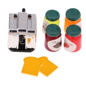 1/12 Puppenhaus Miniatur Brotbackmaschine w / Brot \\u0026 Marmelade Essen Küche Zubehör
