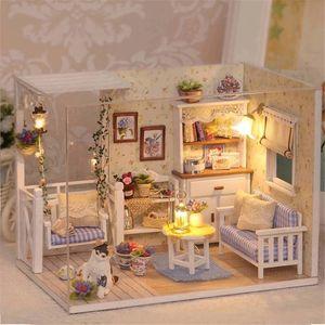 3D Holz DIY Miniatur Puppenhaus M?bel Blumenzimmer Dekorieren Handwerk Spielzeug Geschenk