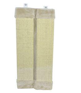 Schnelle Lieferung - Omeere - Kratzmatte mit Plüsch, hellgelb, 49x23 cm
