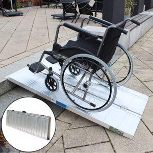 Rollstuhlrampe 152 cm klappbar leicht Alu Auffahrrampe Schwellenrampe