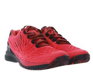 Wilson KAOS 2.0 Clay Court Tennis-Schuhe knallige Damen Sport-Schuhe Pink, Größe:37 2/3