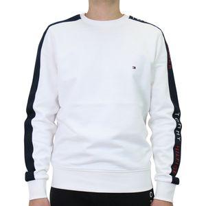 Tommy Hilfiger Tape Sweatshirt Herren Sonstige Pullover Weiß (MW0MW15492YBR) Größe: M