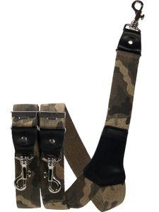 Extra starker Hosenträger mit Karabinerhaken, Größen:120 cm, Farben:Camouflage braun