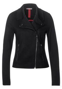 Street One Biker Style-Jacke aus Jersey in Schwarz, Größe 38,