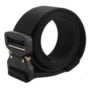 Schwarz Nylon Gürtel Herren Armee Militär Taktischer Gürtel Tactical Belt Metallschnalle Nylon Webbing Belt