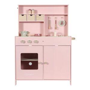Little Dutch Küche Holzküche Kinderküche Spielküche mit Zubehör rosa