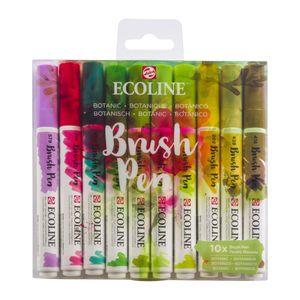 Talens Aquarellstifte »ECOLINE Brushpen Set 10 verschiedene Farben (Botanic)«
