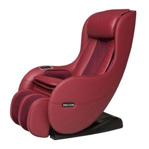 WELCON Massagesessel EASYRELAXX rot / weinrot / bordeaux - 3D Massagestuhl mit Neigungsverstellung elektrisch