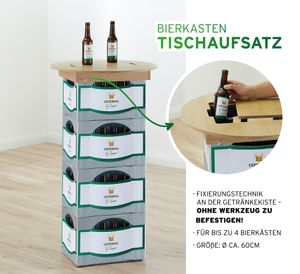 Bierkasten Tischaufsatz, 60cmD
