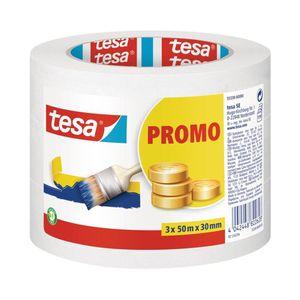 Tesa Malerband für einfache Malerarbeiten 50m x 30mm 3 Stück