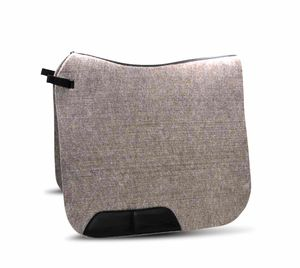 AMKA Filzschabracke Dressur aus Naturfilz mit Lederverstärkung 10 mm dick