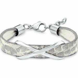 s.Oliver Jewel Damen Armband Edelstahl Leder SO1349/1 - 540193