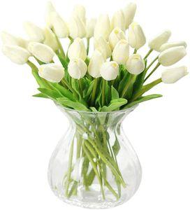 30 Stück Real-Touch künstliche Tulpenblumen Home Hochzeitsfeier Dekor
