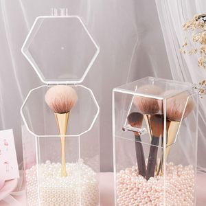 Acryl Kosmetik Organizer Make-up Pinsel Behälter Desktop Aufbewahrungsbox Halter