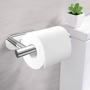 ADORIC Papierhalter Toilettenpapierhalter 304 Edelstahl ohne Bohren, mit 2 * 3M Klebpapier Klopapierhalter
