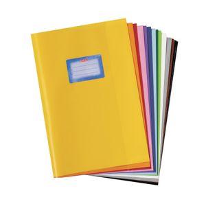 10 Heftumschläge / Hefthüllen DIN A4 / Baststruktur / 10 verschiedene Farben