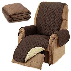 GKA Wende Sesselschoner Sesselauflage mit Armlehnenschoner Sesselbezug braun beige Tagesdecke
