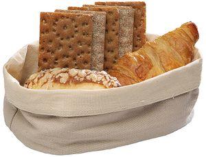 Sambonet Utensili Cucina Baumwolle beige Brottasche ov. 25x18 42876-25