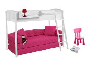 Lilokids IDA 4210 Landhaus - Hochbett 150 cm - weiß - Maße: 150 cm x 208 cm x 98 cm; IDA4210KW150