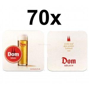 Dom Kölsch Bierdeckel Untersetzer Bierfilz - 70er Packung