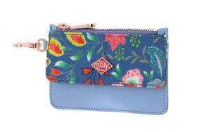 Oilily Aqua Sits Flap Credit Card Wallet Riviera