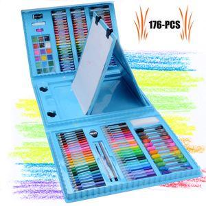Malkasten für Kinder 176 Pcs Buntstifte Set  Malset Kinder Kinderspielzeug  Geschenk für Kinder Farben Set für Kinder