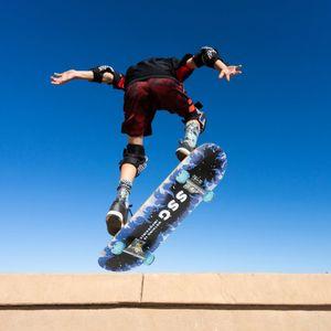 WYCTIN Skateboard mit ABEC 7 Kugellager 79cm - PolyurethanDämpfer + PolyurethanRollen Komplettboard