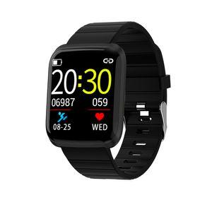 116 PRO BT Watch Farbdisplay Sport Fitness Tracker Pulsmesser Armband Schwarz,Black,