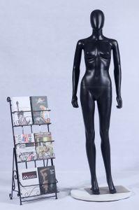FC-7B schöne weibliche abstrakte schwarz Matt lackierte Schaufensterpuppe Schaufensterfigur abstraktes Gesicht