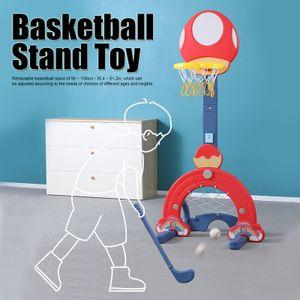 Kinder Indoor Einziehbarer Basketballständer Spielset Höhenverstellbares Basketballspiel