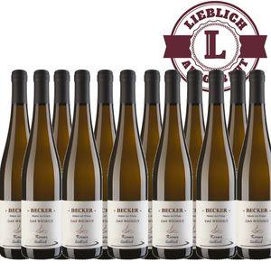 Weißwein Rheinhessen Kerner Weingut Becker Qualitätswein lieblich (12 x 0,75 l)